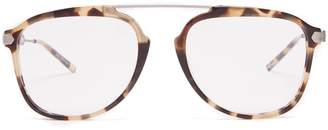 Calvin Klein Aviator-frame acetate and metal glasses