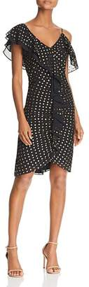 Sam Edelman Ruffled Metallic Dot Dress