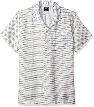 Todd Snyder Men's Short Sleeve Camp Collar Polka Dot Shirt