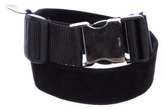 Prada Suede Buckle Belt