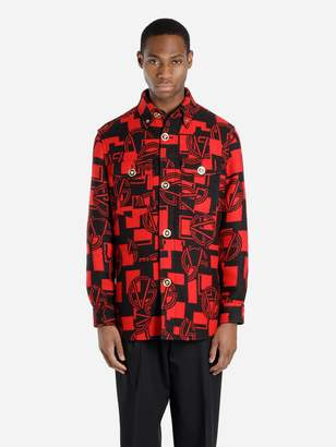Versace RED GV LOGO FLANNEL SHIRT
