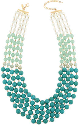 Emily and Ashley Greenbeads By Multi-Strand Ombre Statement Necklace, Turquoise