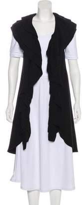 Alice + Olivia Ruffled Knit Vest