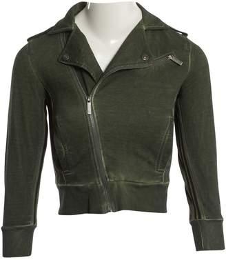 John Galliano Green Cotton Jacket & Coat