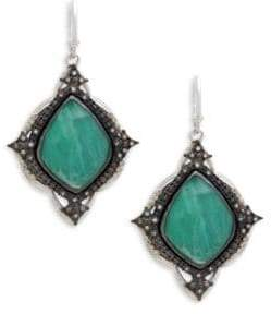 Armenta Diamond, Malachite and Sterling Silver Drop Earrings