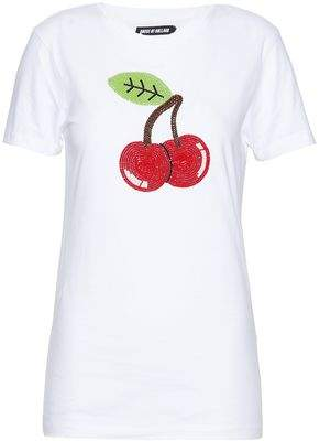 House of Holland Bead-Embellished Cotton-Jersey T-Shirt
