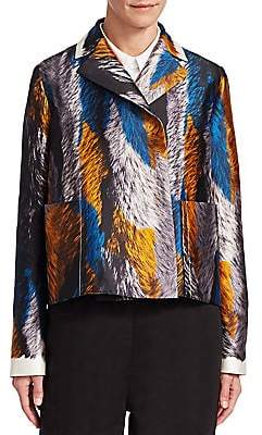 Marni Women's Silk Feather Print Jacket