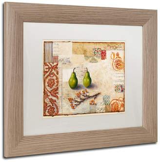 Trademark Global Rachel Paxton 'Marsh Cove Pears' Matted Framed Art