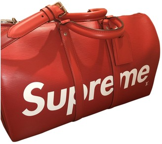 Louis Vuitton X Supreme Red Leather Bag