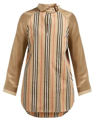 Burberry Wallpaper Heritage Stripe Cotton Blouse - Womens - Beige Multi