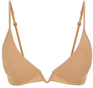 La Perla Second Skin Amaretto-Coloured Non-Wired Padded Triangle V-Bra