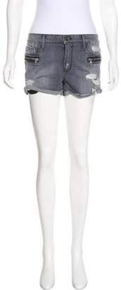 RtA Denim Mini Denim Shorts