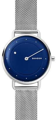 Skagen Horisont Blue-Dial Watch with Diamond, 36mm