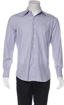 Barneys New York Barney's New York Patterned Button-Up Dress Shirt
