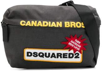 DSQUARED2 logo patch belt bag