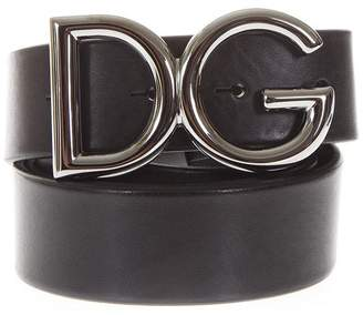 Dolce & Gabbana Black Belt In Leather