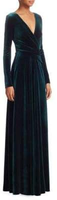Talbot Runhof Long Sleeve Velvet Gown