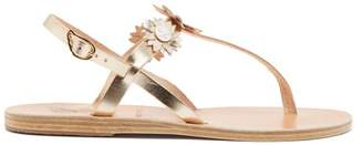 Ancient Greek Sandals X Fabrizio Viti Sylvie Leather Sandals - Womens - Silver Gold