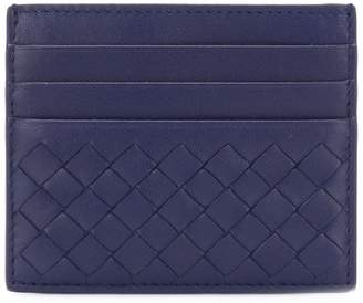 Bottega Veneta blue Intrecciato nappa card case