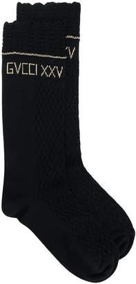 Gucci embroidered logo socks