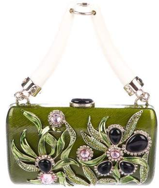Saint Laurent Embellished Resin Clutch
