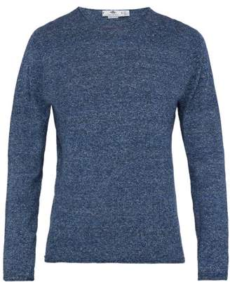 Inis Meáin Inis Meain - Zephyr Slubbed Linen And Cotton Blend Sweater - Mens - Blue