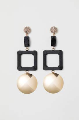 H&M Large Earrings - Black