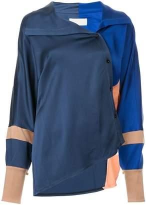 Peter Pilotto asymmetric colour block shirt