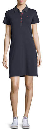 Tommy Hilfiger Dot Collar Cotton Polo Dress