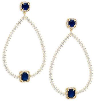 Saks Fifth Avenue Mint Green Quartz & 14K Pear Shaped Drop Earrings