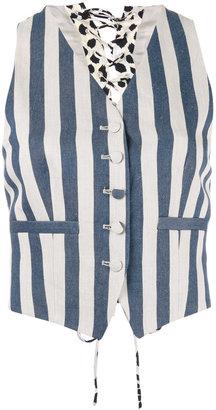 Roberto Cavalli striped waistcoat $802.20 thestylecure.com