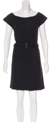 Loeffler Randall Linen-Blend Belted Dress