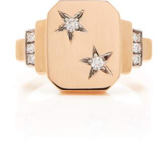 Luce Melis Goral Luna 14K Gold Diamond Ring