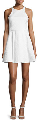 Parker Hudson Sleeveless Fit-&-Flare Dress, White $265 thestylecure.com