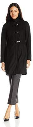 Kenneth Cole Women's Single Breasted Wool Coat with Buckle Closure $32.23 thestylecure.com