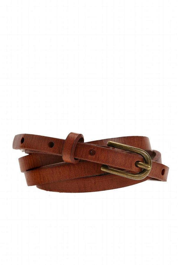 UO Narrow Leather Belt