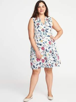 Old Navy Sleeveless Georgette Plus-Size Swing Dress