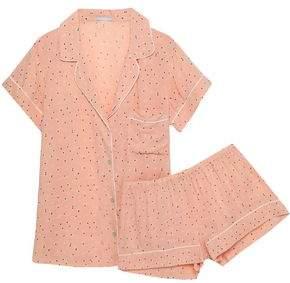 Eberjey Printed Woven Pajama Set