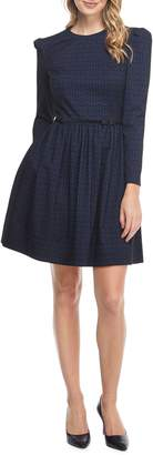 Gal Meets Glam Callie Print Long Sleeve Dress