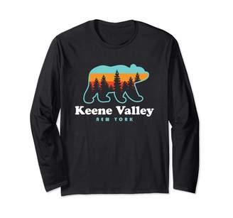 Adirondack Mountains Tees Keene Valley NY - Adirondacks Bear Keene Valley Long Sleeve T-Shirt