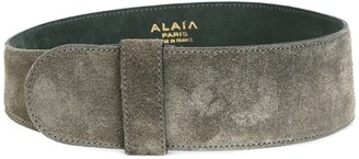 Alaia Pre-Owned wide suede belt
