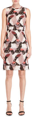 Emilio Pucci Patchwork Macrame Lace Sheath Dress