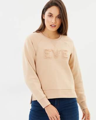 All About Eve Alannah Fleece Crew Neck Sweatshirt