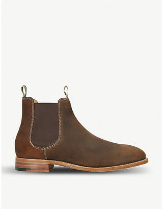 58cac77175f Mens Brown Suede Heeled Chelsea Boot - ShopStyle UK