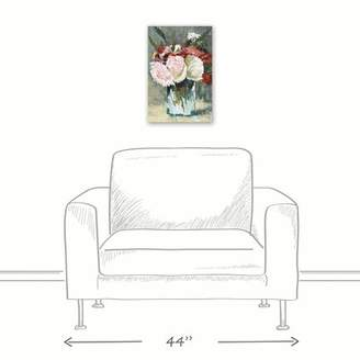 Winston Porter 'Vase with Flowers' Acrylic Painting Print on Canvas