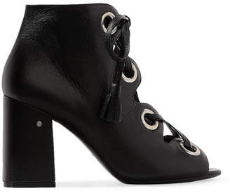 Laurence Dacade - Patsy Lace-up Leather Sandals - Black $870 thestylecure.com