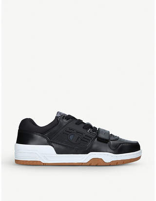 Champion 3 on 3 leather low-top trainers