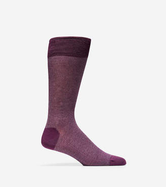 Cole Haan Pique Textured Crew Socks