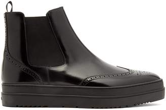 Prada Raised-sole leather chelsea boots