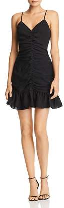 Celine The East Order Ruched Ruffled Mini Dress